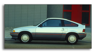 1987 Honda Civic CRX HF: 52 city	/ 57 highway MPG