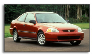 1996 Honda Civic Coupe HX: 39 city / 45 highway MPG