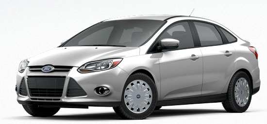 2012 Ford Focus SE SFE Sedan with aerodynamic wheel covers.