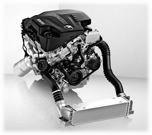 BMW 2.0-liter twin-turbo four-cylinder engine