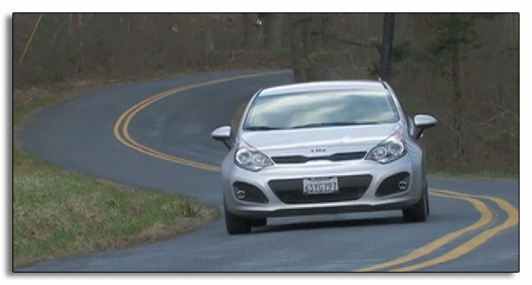 2012 Kia Rio Five-Door on the road