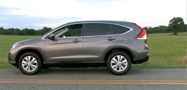 2012 Honda CR V EX L Side View At Sunset