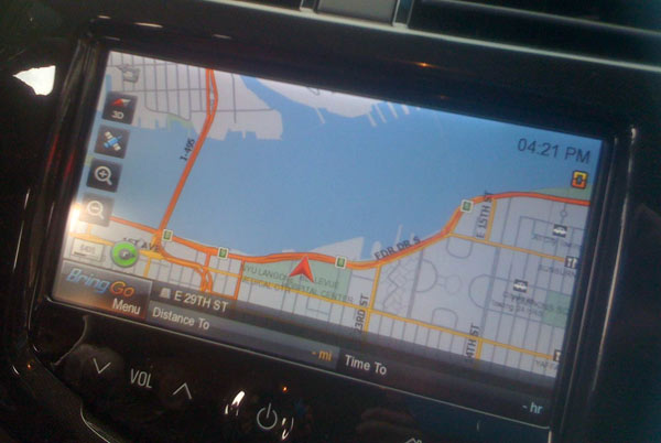 2013 Chevy Spark LT2 Bring Go navigation app on seven-inch LCD touch-screen