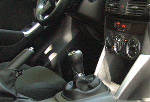 Mazda CX-5 six-speed manual shifter
