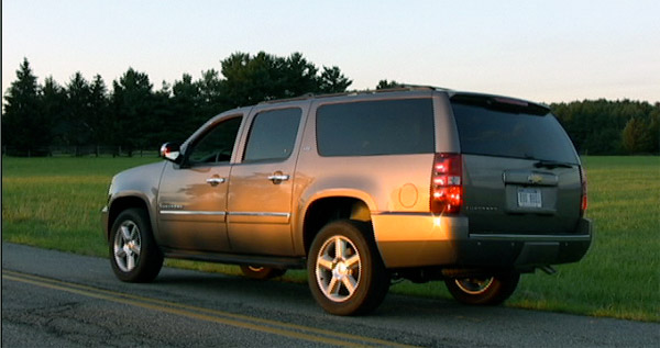 2013 Chevy Suburban LTZ 4WD half-ton - rear view