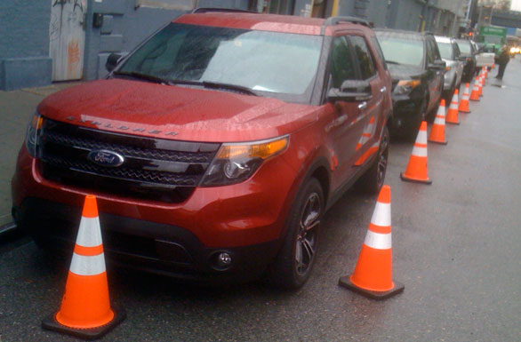 2013 Ford Explorer Sport - front view - NYC