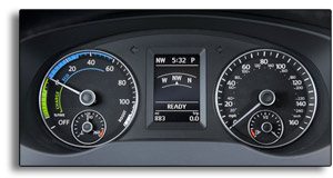 VW Jetta Hybrid dashboard - Power Meter