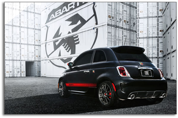 2013 Fiat Abarth - rear quarter profile