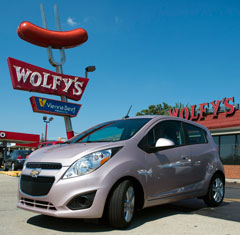 2013 Chevy Spark in Champagne Techno Pink at Wolfy's