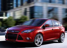 Red 2014 Ford Focus five-door hatchback