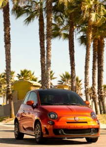 Limited Edition Fiat 500 in metallic orange