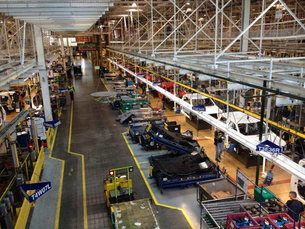 Ford Rouge Assembly Plant - F-150 pickup trucks on the line