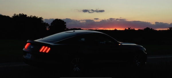 2015 Ford Mustang EcoBoost Premium at Sunset