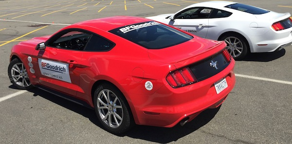 Ford Mustangs at MetLife Stadium BFGoodrich event