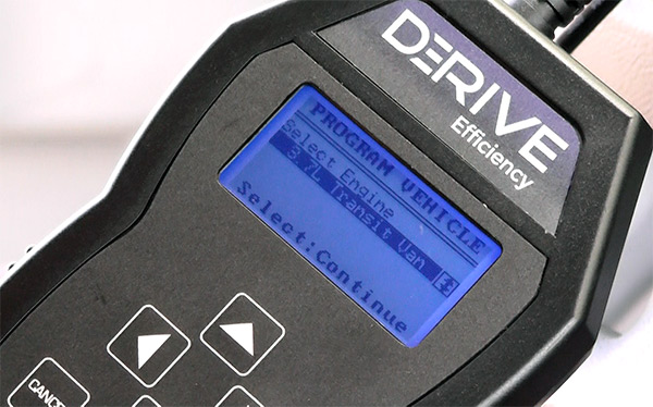 Derive Efficiency handheld OBDII device